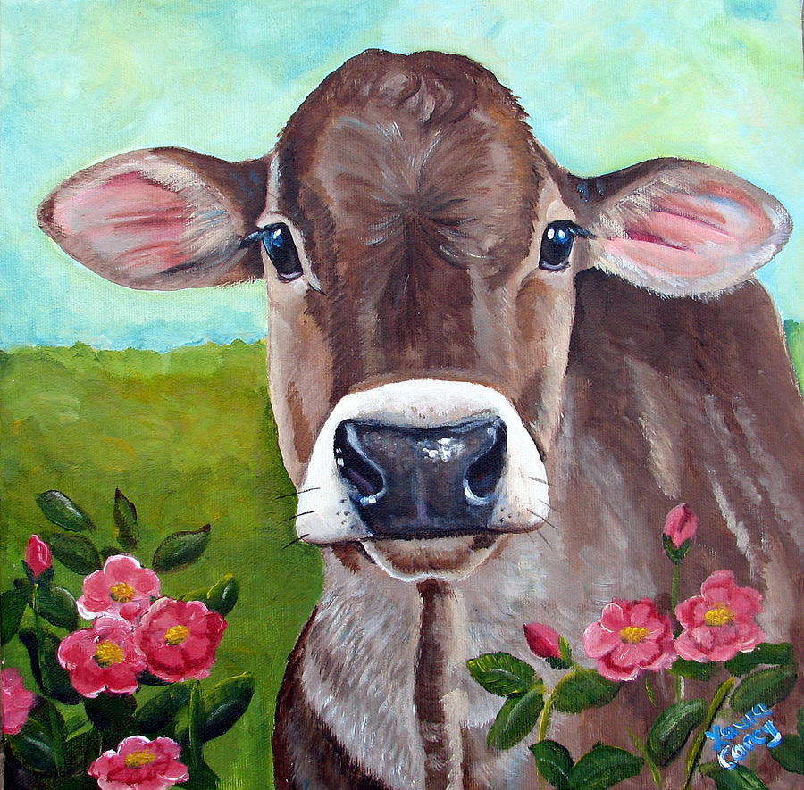 Brown Swiss Painting - Sweet Matilda by Laura Carey