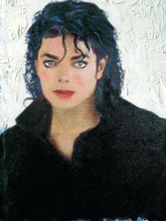 Portrait Painting - Sweet Michael Jackson by Jeannette Ulrich