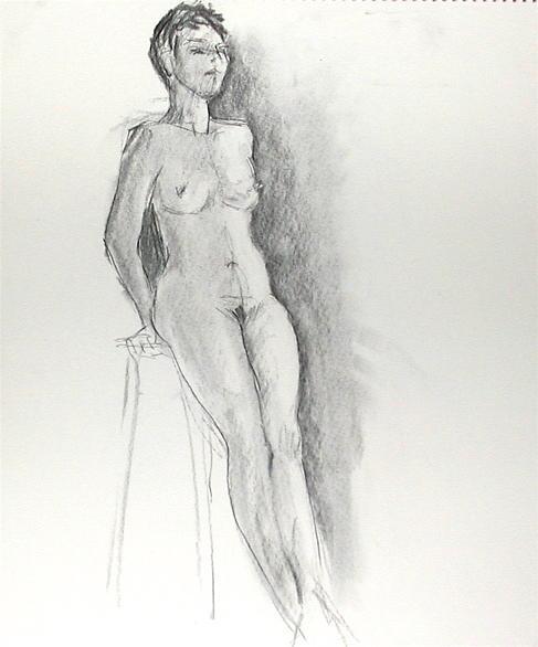 Nude Drawing - Sweet N Low by Faye Ziegler