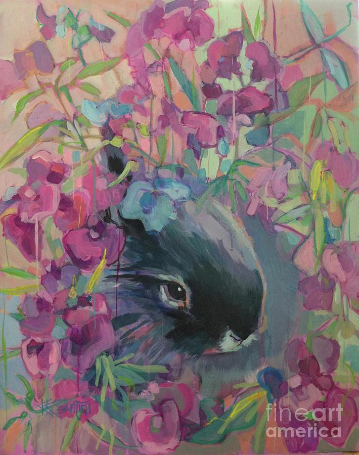 Bunny Painting - Sweet Pea by Kimberly Santini