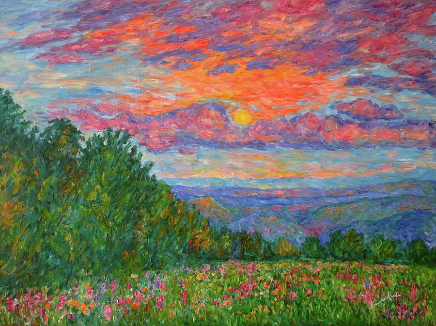 Impressionism Painting - Sweet Pea Morning On The Blue Ridge by Kendall Kessler
