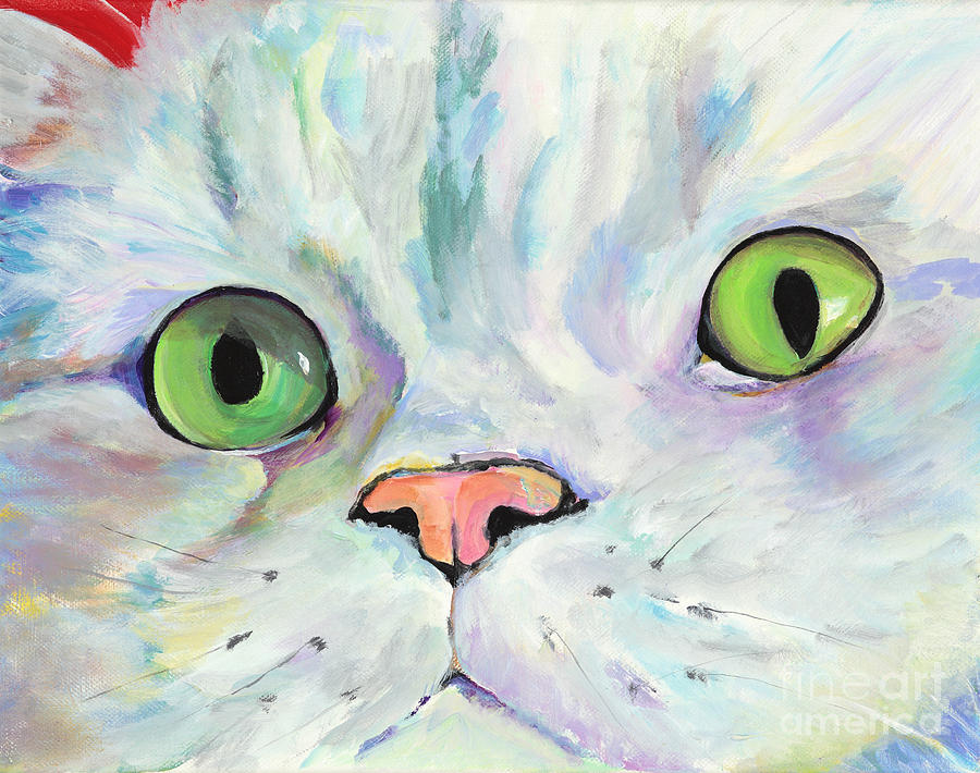 Kitten Painting - Sweet Puss by Pat Saunders-White