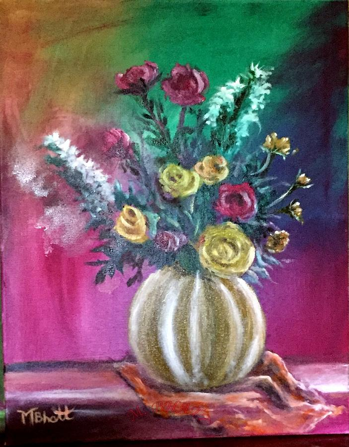 Roses Painting - Sweet Roses by M bhatt