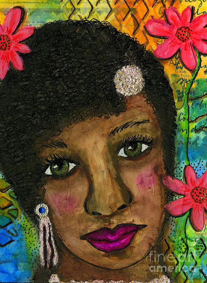 Acrylic Painting - Sweet Sistah Girl by Angela L Walker