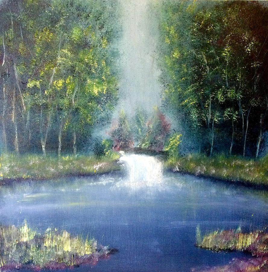 Landscape Painting - Sweet Solitude by Christine Johanns