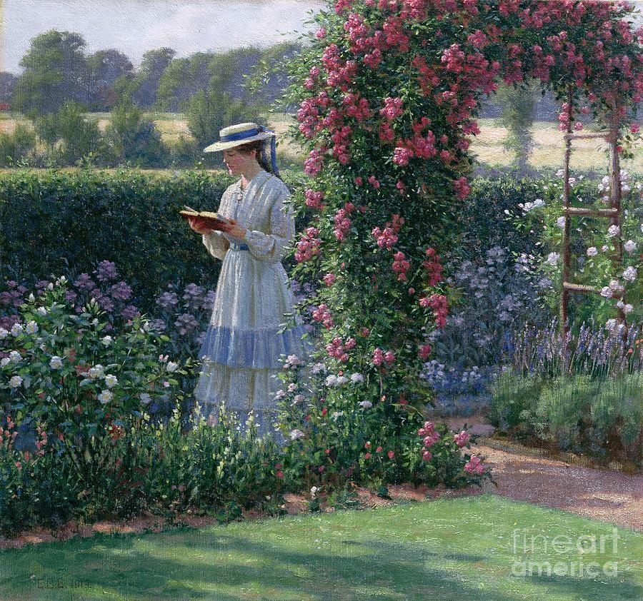 Garden Painting - Sweet Solitude by Edmund Blair Leighton
