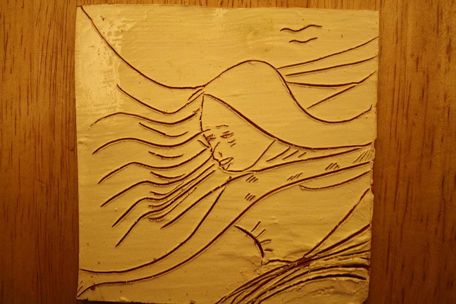 Jesus Ceramic Art - Sweet Sounds - Tile by Gloria Ssali