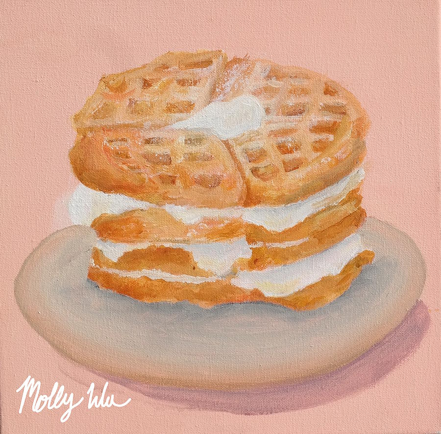 Waffle Painting - Sweet Sunday by Molly Wu