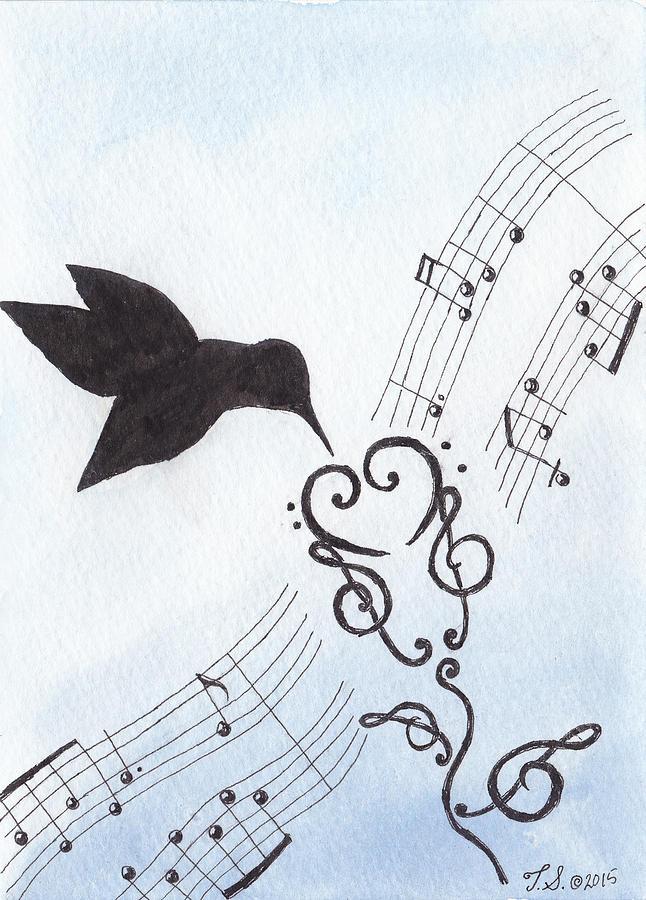 Hummingbirds Painting - Sweet Symphony by Theresa Stinnett