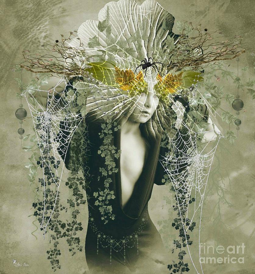 Web Digital Art - Sweet Webs Of Design by Ali Oppy