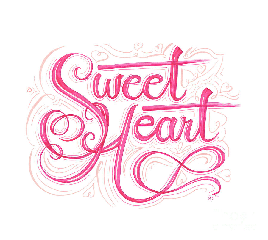 Sweet Drawing - Sweetheart by Cindy Garber Iverson