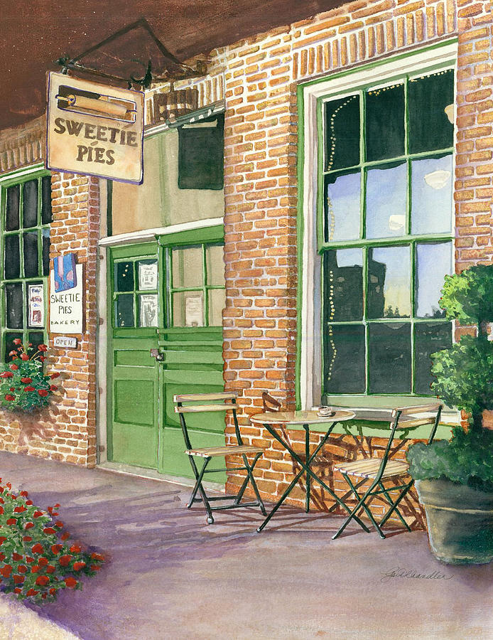 Cityscape Painting - Sweetie Pies Bakery by Gail Chandler