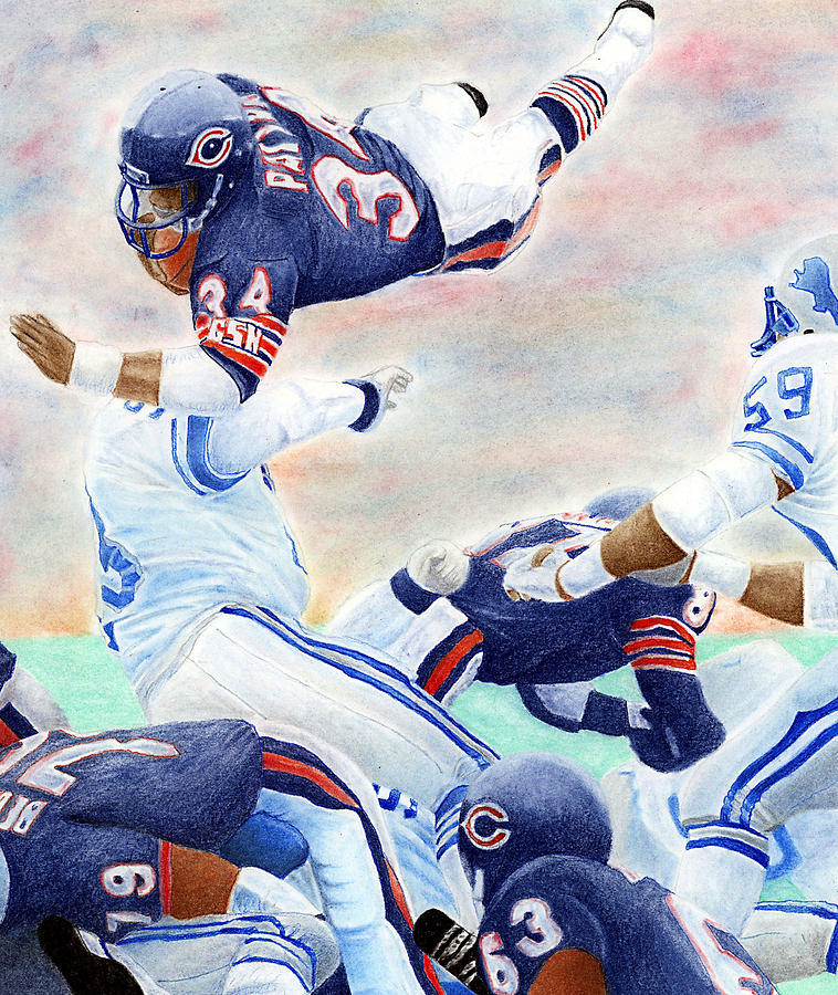Walter Payton Pastel - Sweetness Over the Top by Lyle Brown