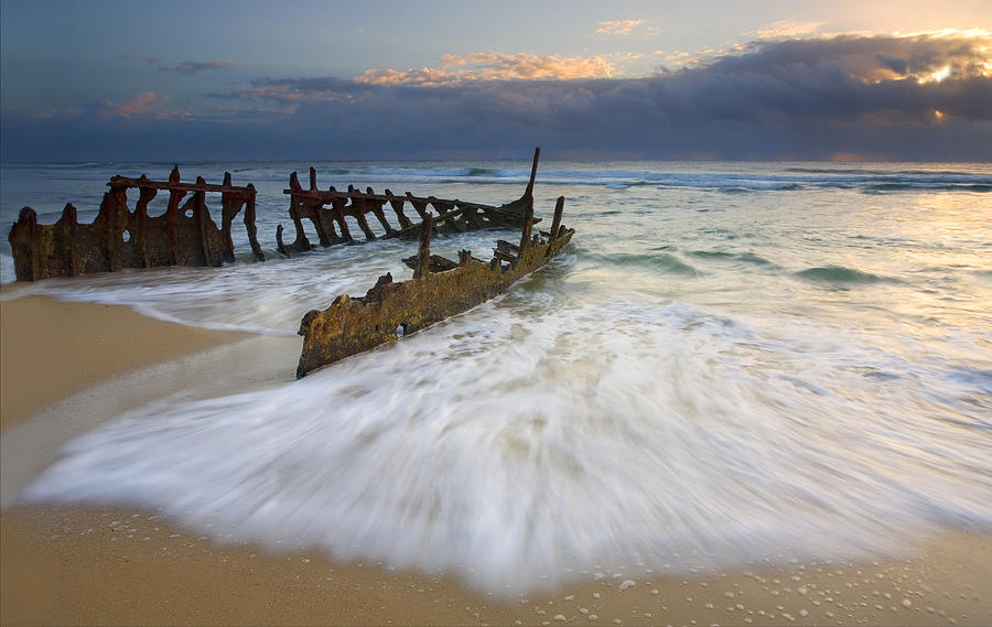 Swept Ashore Photograph by Mike  Dawson