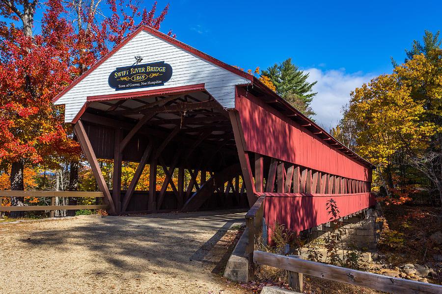 Swift River Photograph - Swift River Bridge by Scott Patterson