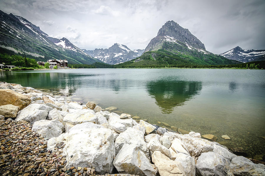 Glacier Photograph - Swiftcurrent Lake by Margaret Pitcher