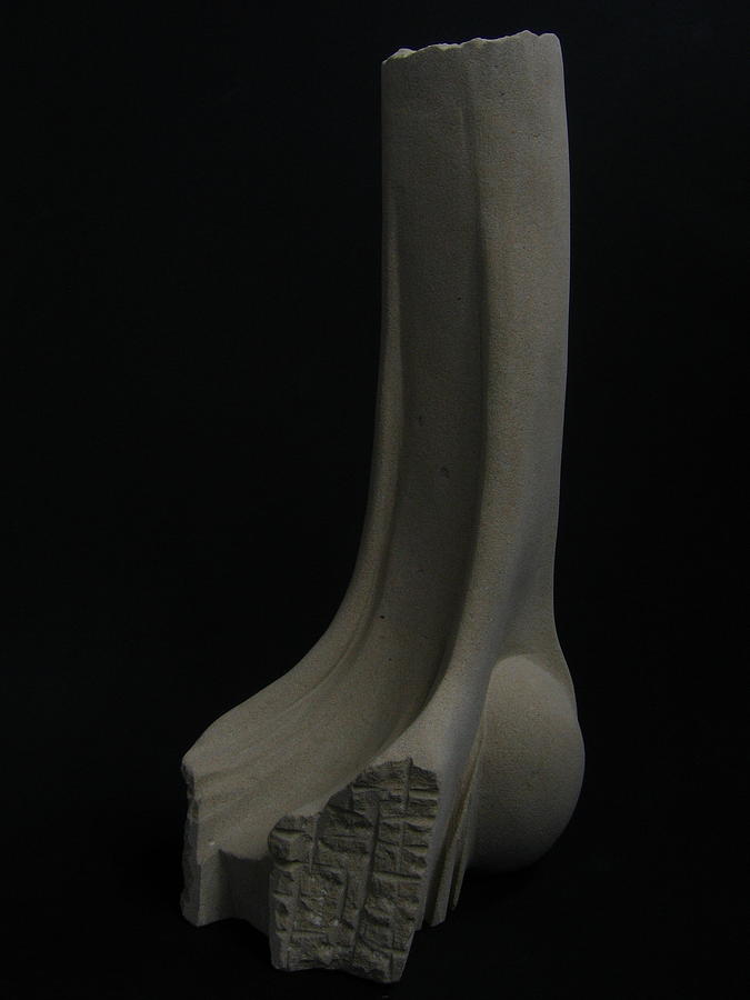 Carved Stone Sculpture Sculpture - Swiftness - Body Series by Todd Malenke