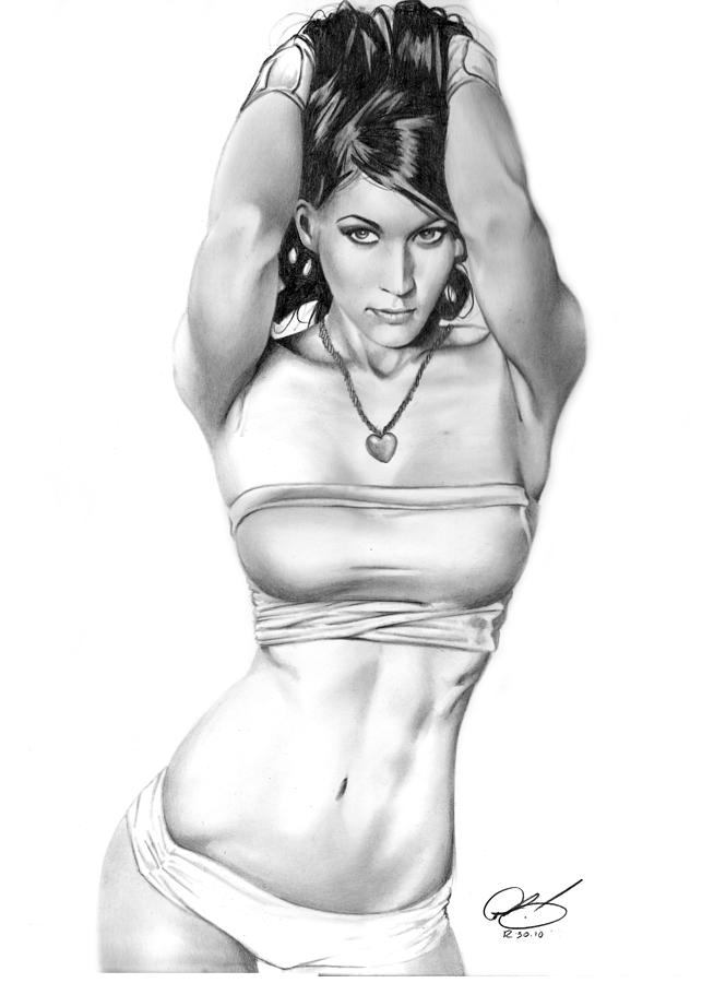 Jennifer Drawing - Swifty by Pete Tapang