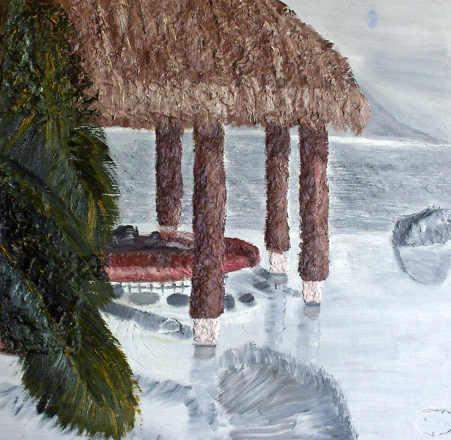 Still Life Paintings Painting - Swim To A Beach Bar Cool Huh by Leslye Miller
