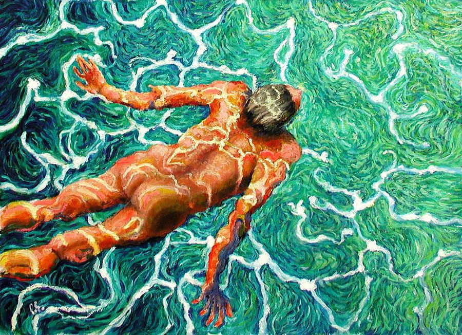 Man Painting - Swimmer by Paul Sierra