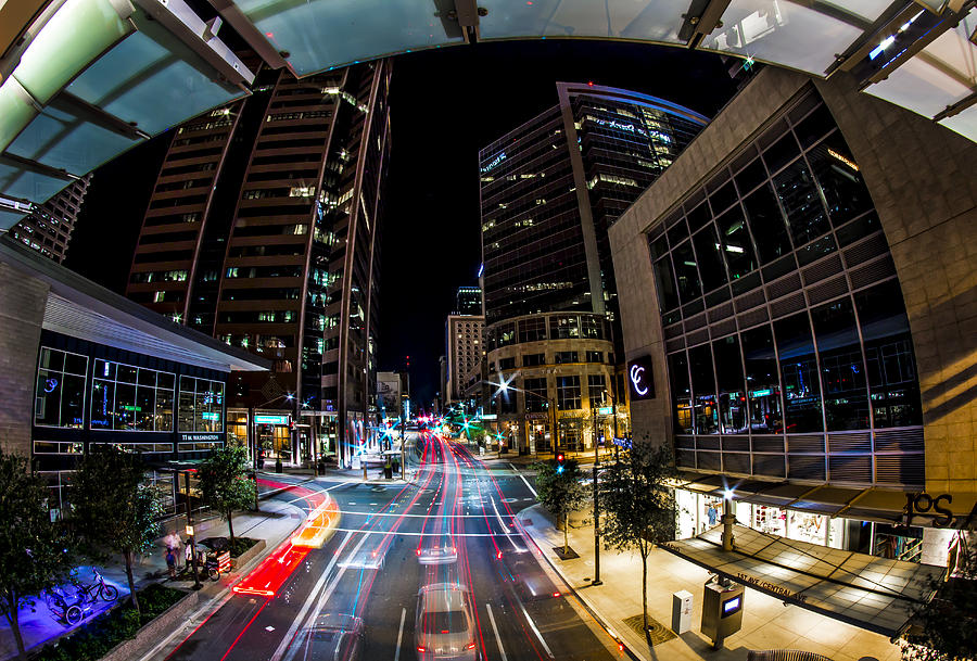 Phoenix Photograph - Swimming Down Central by Kyle Field