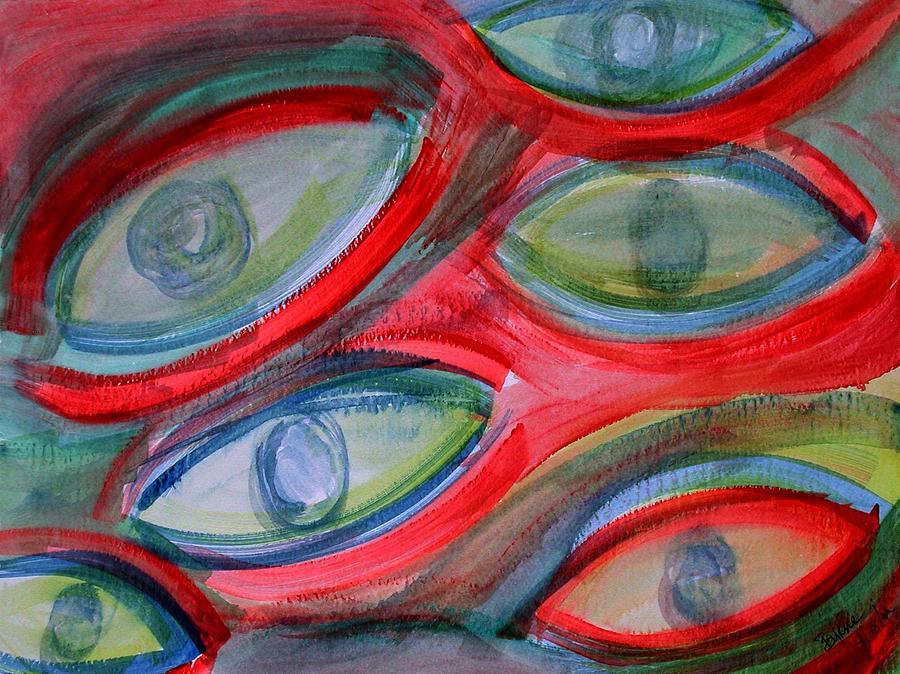 Eyes Painting - Swimming eyes by Margie  Byrne