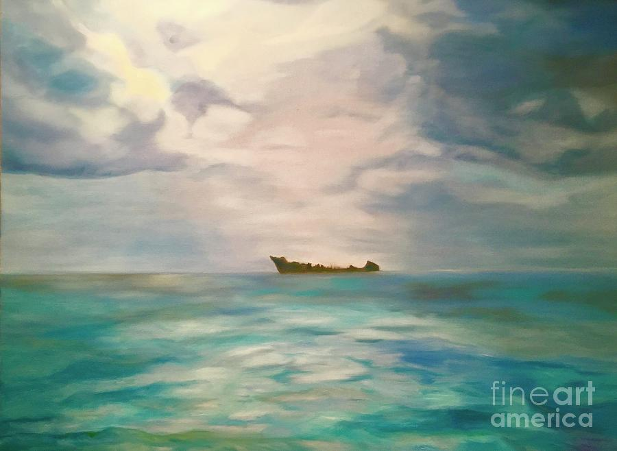 Seascape Painting - Swimming For The Unattainable by Sherri Dauphinais