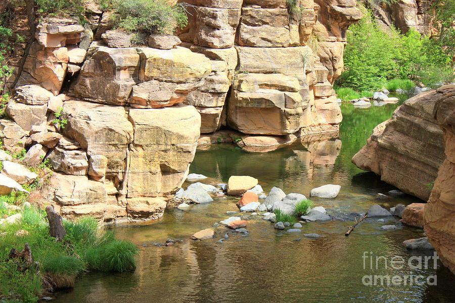Slide Rock Photograph - Swimming Hole At Slide Rock by Carol Groenen