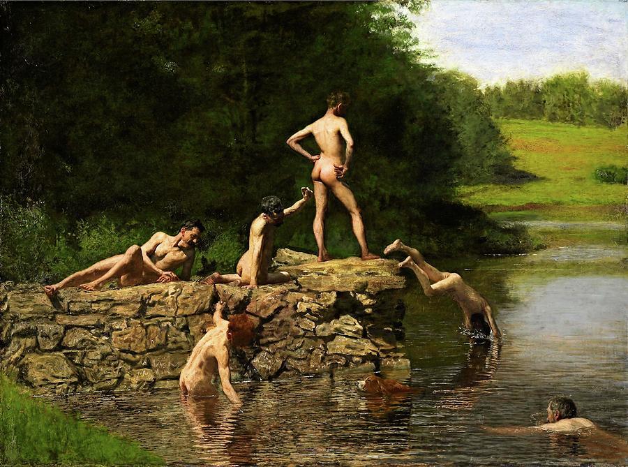 Thomas Eakins Painting - Swimming Hole by Thomas Eakins
