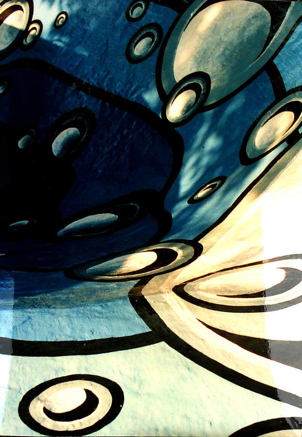 Swimming Pool Painting - Swimming Pool Mural Detail 2 by Rachel Christine Nowicki
