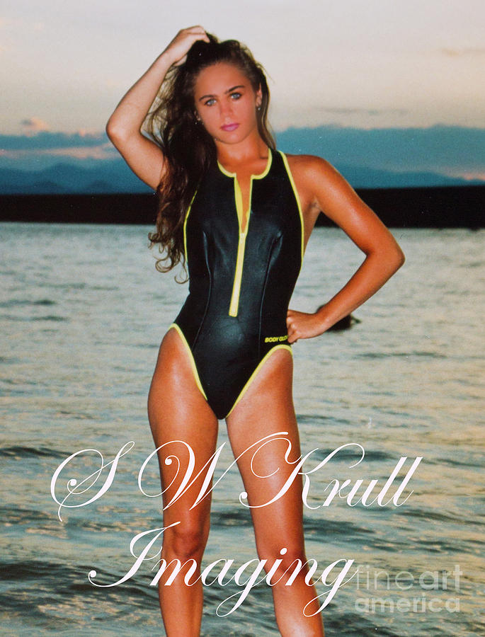 Swimsuit Girl Ad Photograph