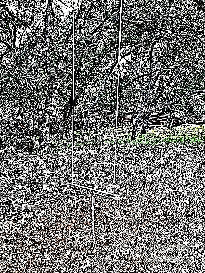 Swing In The Woods by Bridgette Gomes