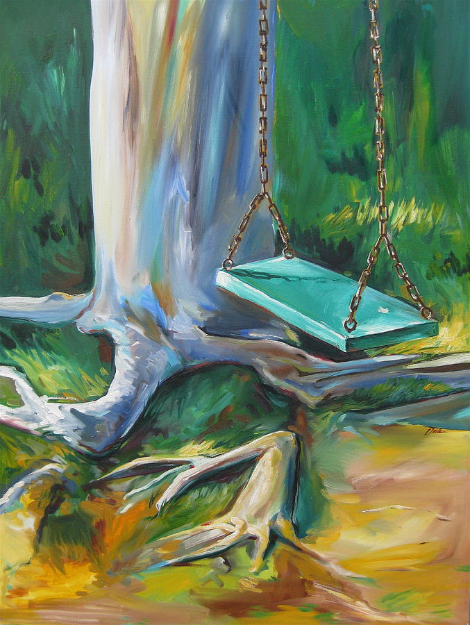 Swing Painting - Swing by Karen Doyle