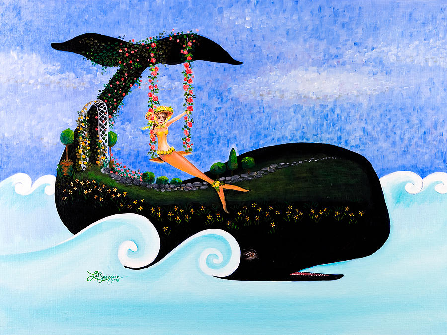 Mermaid Painting - Swing On Whaleback Hill by Theresa LaBrecque