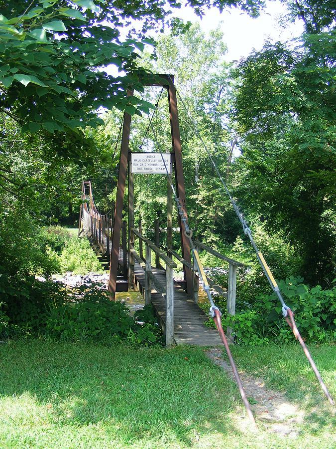 Bridge Photograph - Swinging Bridge by Eddie Armstrong