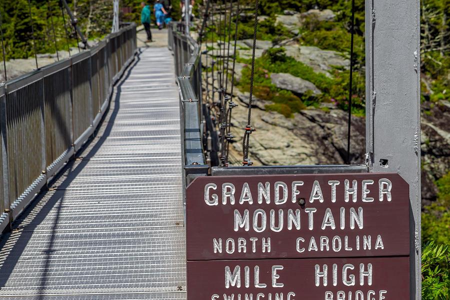 Blue Ridge Pkwy Photograph - Swinging Bridge by Patricia Brock