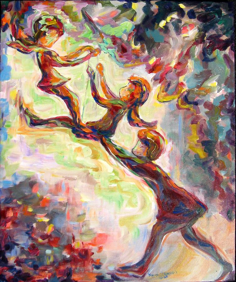 Swinging High Painting by Naomi Gerrard