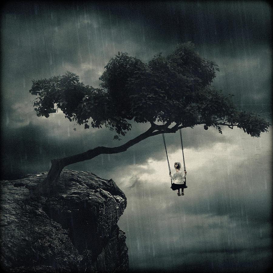 In rain swinging seems me