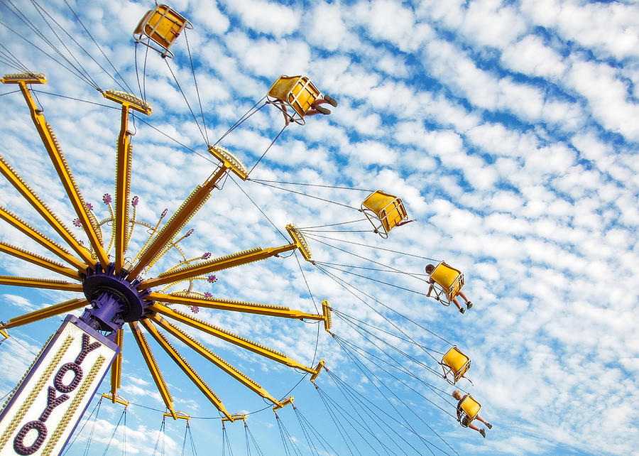 Carnival Photograph - Swings On High by Todd Klassy