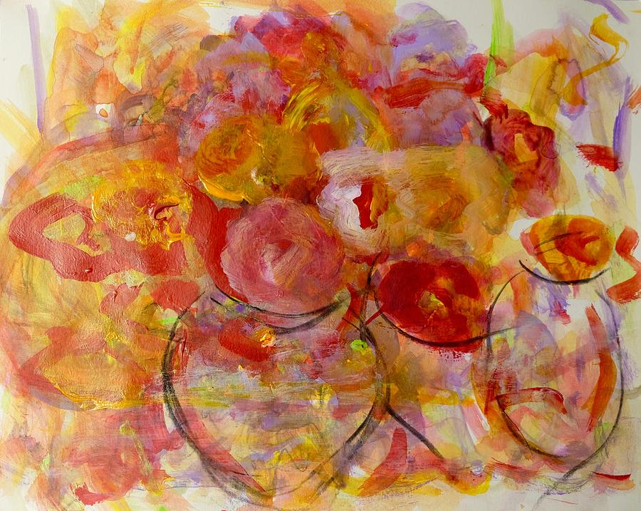 Yellows Painting - Swirl by Barbara Rose Brooker