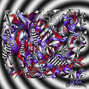 Unique Digital Art - Swirl by Julie Carter