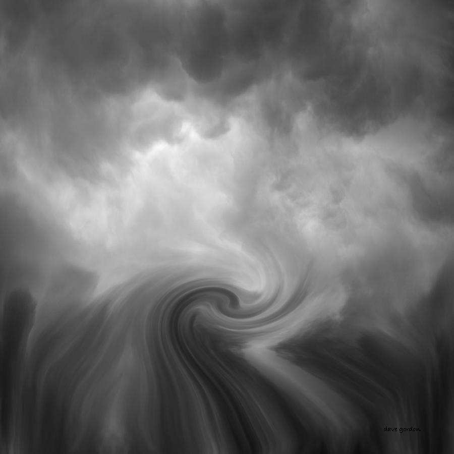 Black Photograph - Swirl Wave Vi by David Gordon
