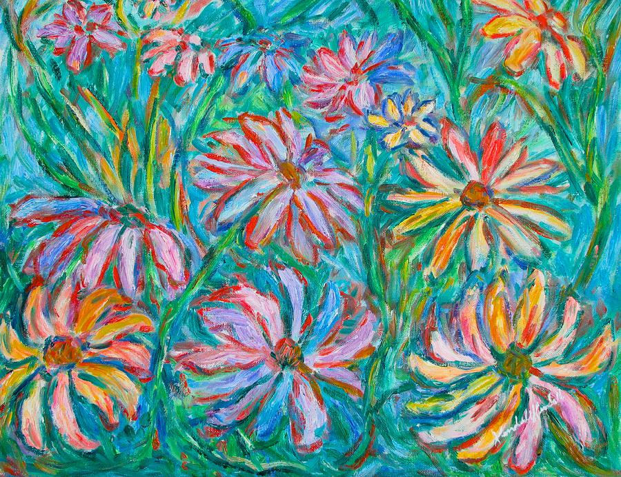 Impressionist Painting - Swirling Color by Kendall Kessler