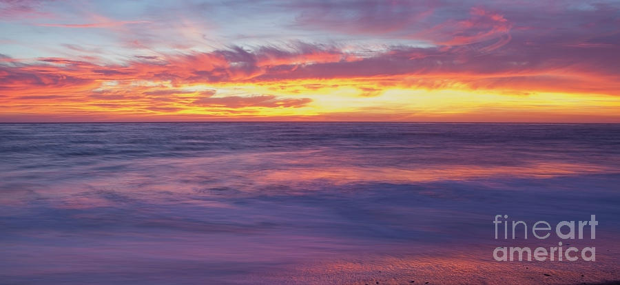 Color Photograph - Swirling Ocean And Sky by Sharon Foelz