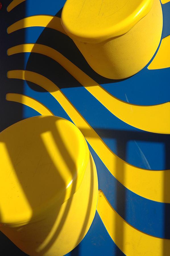 Yellow Photograph - Swirls of Fun by Mickie Boothroyd