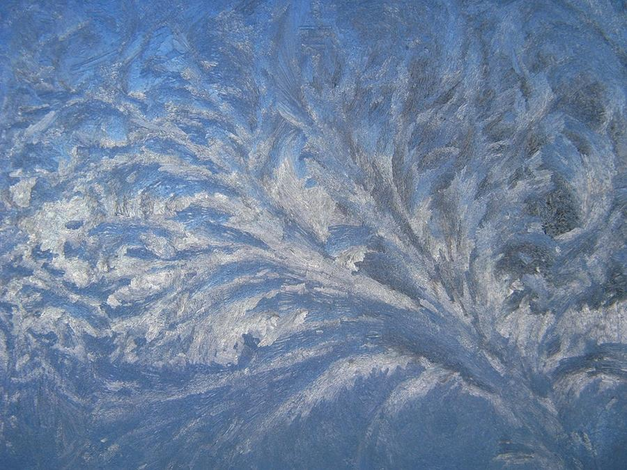 Ice Photograph - Swirls of Ice by Rhonda Barrett