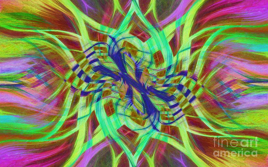 Mandala Photograph - Swirly Floral Mandala 01 by Jack Torcello