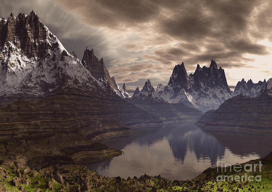 Swiss Alps Mixed Media - Swiss Alps  by Heinz G Mielke