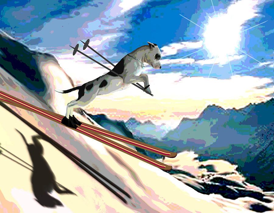 Switzerland Painting - Swiss Alps by Jann Paxton