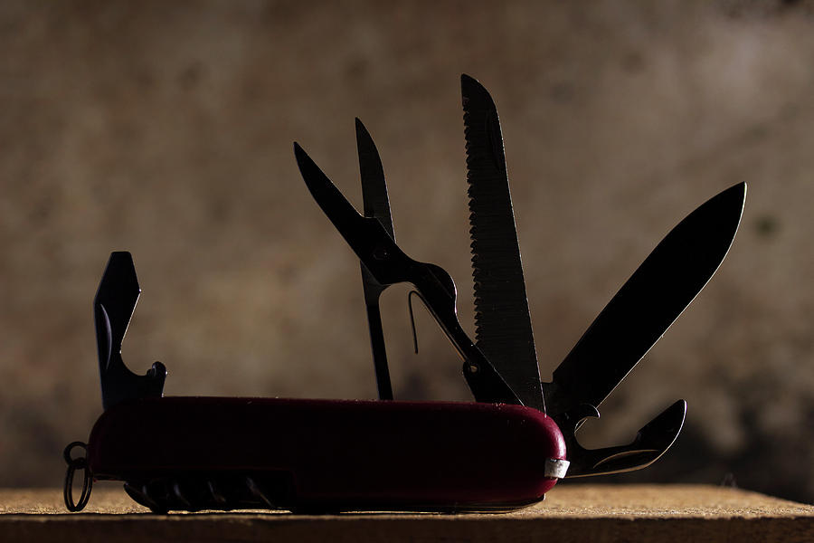 Knife Photograph - Swiss Army by Mike Eingle